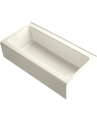 KOHLER Bellwether 5 ft. Rectangle Right Drain Soaking Tub in Biscuit