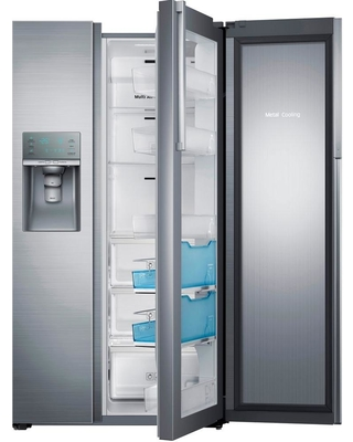 Samsung 21.5 cu. ft. Side by Side Refrigerator in Stainless Steel, Counter Depth Food Showcase Design, Silver