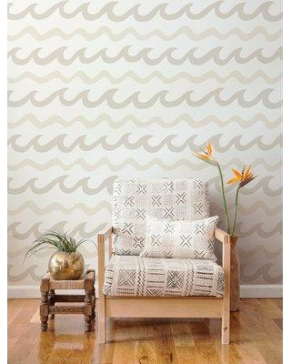 "Aimee Wilder Designs Swell 15' x 28"" Chevron Wallpaper (Set of 2) WSW Color: Coconuts"