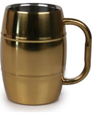 Shop Deals For Jodhpuri Beer 16 Oz Stainless Steel Beer Mug Stainless Steel In Gold Shiny Size 5 H X 3 W X 4 D Wayfair 61054
