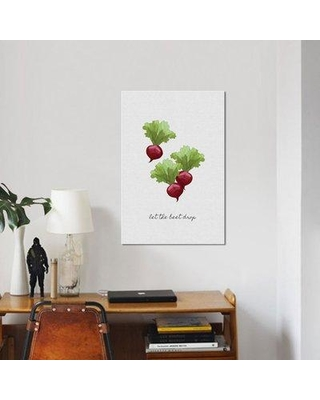 "East Urban Home 'Let the Beet Drop' Graphic Art Print on Canvas UBAH9290 Size: 18"" H x 12"" W x 1.5"" D"