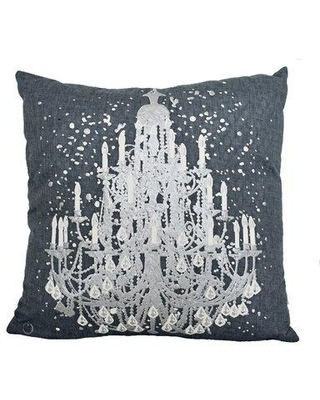 House of Hampton® Scannell Pendent Lamp Throw Pillow Insert X112826088 Color: Black/Silver