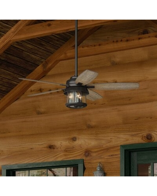 """52"""" Coral Bay 5 - Blade LED Standard Ceiling Fan with Remote Control and Light Kit Included"""