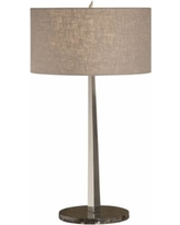 Thumprints Tigers Eye Brushed Nickel Table Lamp