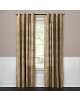 "Textured Weave Window Curtain Panel Brown (54""X84"") - Threshold"