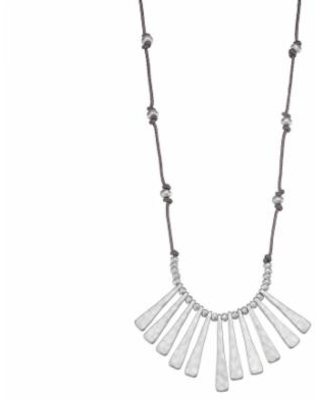 """""""Bella Uno Abstract Beaded Necklace, Women's, Size: 18"""", Silver"""""""