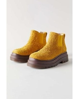 Uo Dana Suede Chelsea Boot - Yellow - Urban Outfitters Boots