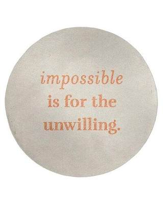 East Urban Home Handwritten Impossible Quote Poly Chenille Rug FCLS6310 Rug Size: Round 5'