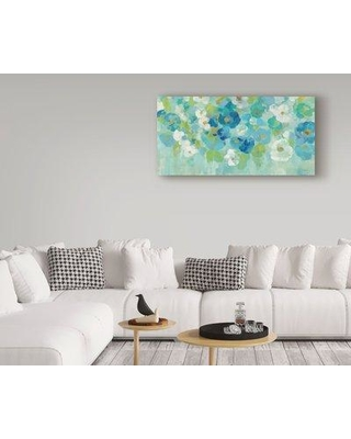 """Ophelia & Co. 'Spring Aroma I White Flowers' Acrylic Painting Print on Wrapped Canvas OPHL9659 Size: 24"""" H x 47"""" W x 2"""" D"""