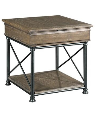 Darrington Collection 823-915 RECTANGULAR DRAWER END TABLE in Glazed Mocha and Bronze
