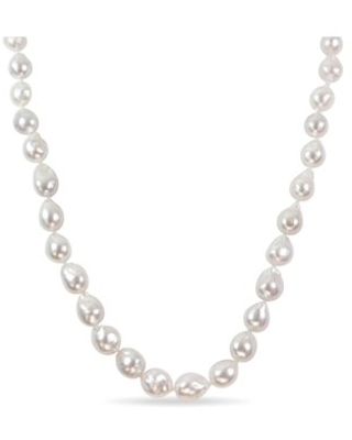 10-13mm Natural-Shaped White South Sea Pearl 14kt Yellow Gold Strand Necklace, 18
