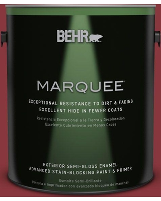 BEHR MARQUEE 1 gal. #pmd-22 Ripe Currant Semi-Gloss Enamel Exterior Paint and Primer in One