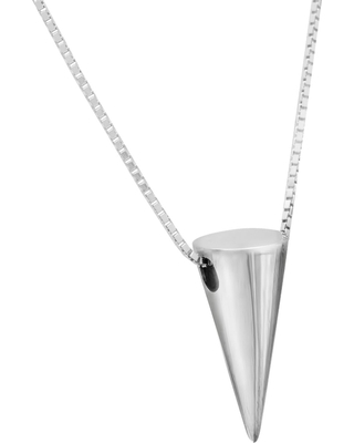 Edge Only - 3D Cone Pendant in Silver