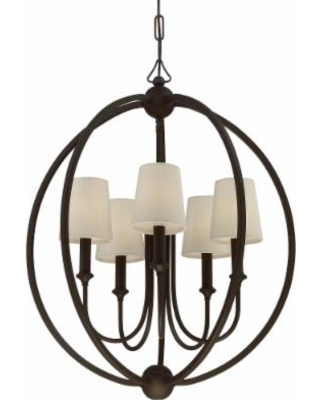 Crystorama Libby Langdon Sylvan 22 Inch 5 Light Chandelier - 2247-DB