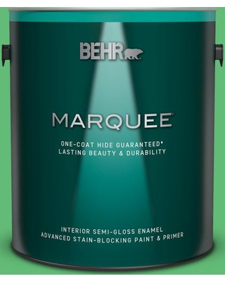 BEHR MARQUEE 1 gal. #450B-5 Lady Luck Semi-Gloss Enamel Interior Paint and Primer in One