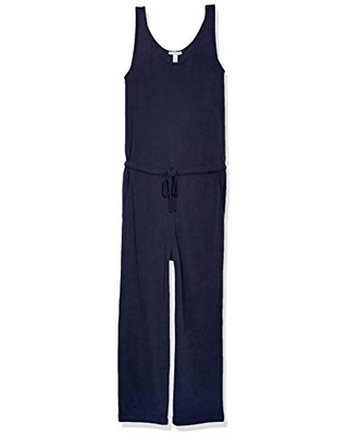 Amazon Brand - Daily Ritual Women's Sandwashed Modal Blend Sleeveless Wide-Leg Cropped Jumpsuit, Navy, XX-Large