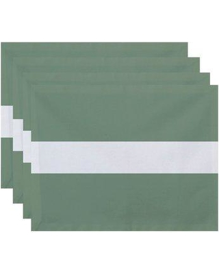 "Breakwater Bay Fernwood Stripe 18"" Placemat BRWT6925 Color: Green"