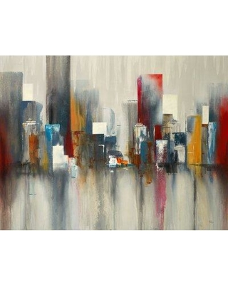 """Third and Wall Art Group 'City Life IV' by Lisa Ridgers Painting Print on Wrapped Canvas GURID-775-FP- Size: 24"""" H x 32"""" W"""