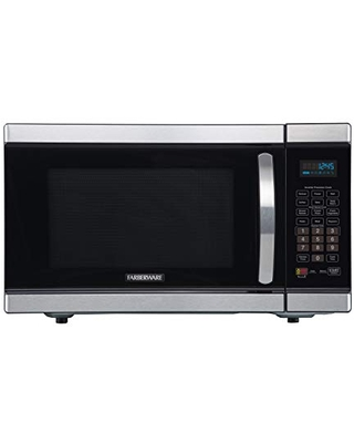 Farberware Gourmet FMO11AHTBKJ 1.1 Cu. Ft. 1100-Watt Microwave Oven with Smart Sensor Cooking and Inverter Technology, ECO Mode and Blue LED Lighting, Stainless Steel