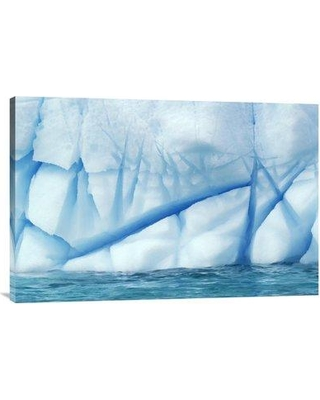 """East Urban Home 'Crevasses Created by the Melting of the Ice Antarctica' Photographic Print EAAC9326 Size: 20"""" H x 30"""" W Format: Wrapped Canvas"""