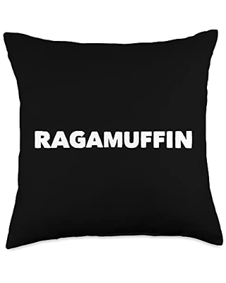 Mom Cuss Words Clothing Ragamuffin Saying Messy Slang Word Statement Funny Throw Pillow, 18x18, Multicolor