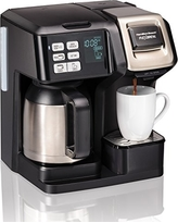 Hamilton Beach 49966 Programmable Thermal Coffee Maker Flexbrew 2-Way Brewer (10 Single Serve K-Cup Packs Or Ground), Thermal Carafe