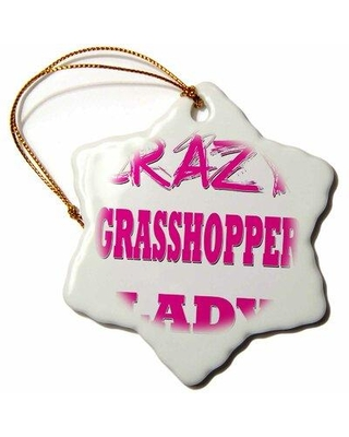 Deals For The Holiday Aisle Crazy Grasshopper Lady Snowflake Holiday Shaped Ornament Ceramic Porcelain In Pink Size 3 H X 3 W Wayfair