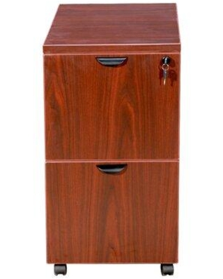 Symple Stuff Patchen 2-Drawer Mobile Vertical Filing Cabinet X112758892 Color: Cherry