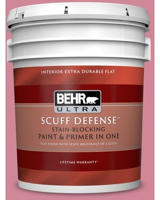 BEHR ULTRA 5 gal. #M140-4 Fruit Cocktail Extra Durable Flat Interior Paint & Primer