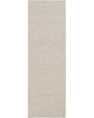 "Union Rustic Somerville Geometric Handwoven Flatweave Wool Taupe/Cream Area Rug VOST6699 Rug Size: Runner 2'6"" x 8'"