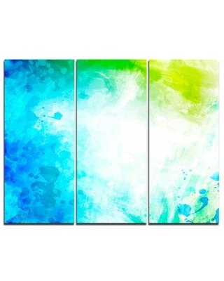 Design Art Abstract Watercolor Art - 3 Piece Painting Print on Wrapped Canvas Set PT6153-3P