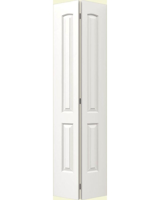 JELD-WEN 30 in. x 80 in. Continental White Painted Smooth Molded Composite MDF Closet Bi-fold Door