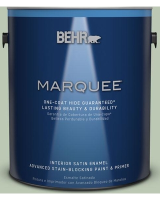 BEHR MARQUEE 1 gal. #MQ6-45 Composed One-Coat Hide Satin Enamel Interior Paint and Primer in One