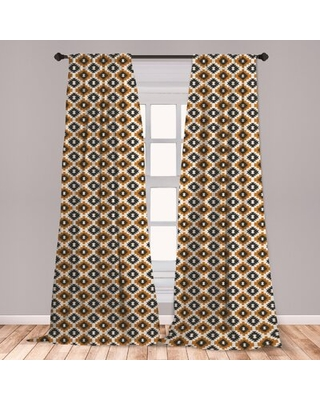 Shopping Special For Ethnic Geometric Room Darkening Rod Pocket Curtain Panels East Urban Home Size Per Panel 28 X 95