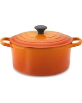 Le Creuset Signature Cast-Iron Round Dutch Oven, 3 1/2-Qt., Flame
