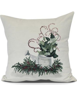 """The Holiday Aisle Gardener's Delight Holiday Throw Pillow HLDY7493 Size: 20"""" H x 20"""" W"""