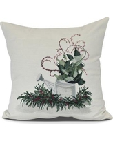 "The Holiday Aisle Gardener's Delight Holiday Throw Pillow HLDY7493 Size: 20"" H x 20"" W"