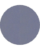 Get This Deal On Adrik Geometric Wool Blue Area Rug East Urban Home Rug Size Round 8