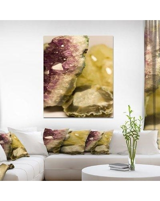 """East Urban Home Stone 'Crystals' Graphic Art Print on Wrapped Canvas ETUC0331 Size: 40"""" H x 30"""" W x 1.5"""" D"""