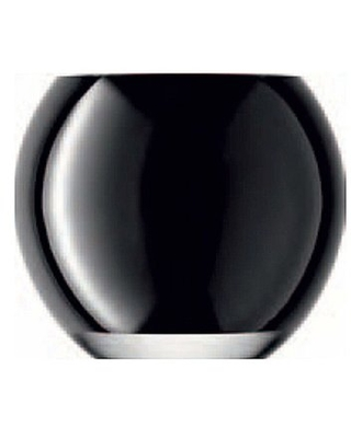 Glass Tealight Holder Ivy Bronx Color: Black