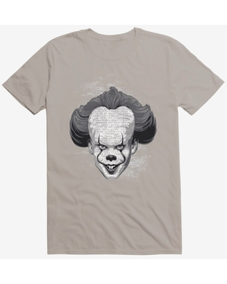 IT Chapter Two Pennywise Come Home Script Grayscale T-Shirt