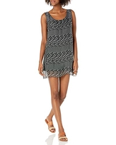 M Made in Italy Women's Floral Sleeveless Mini Dress, Black Combo, Small