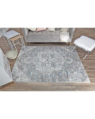 Canora Grey Leclerc Oriental Gray Area Rug X113956919 Rug Size: Rectangle 8' x 10'