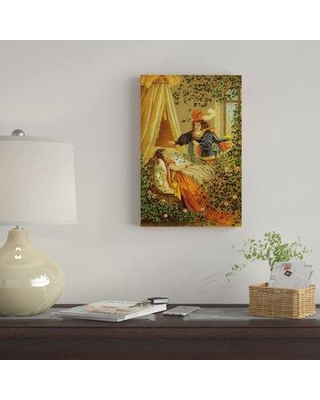 """East Urban Home 'Fairy Tale XVII' Graphic Art Print on Canvas EBHS8533 Size: 18"""" H x 12"""" W x 0.75"""" D"""