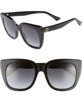 02fa8238a094e Remarkable Deal on Women s Gucci 51Mm Cat Eye Sunglasses - Black