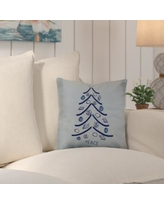 "Beachcrest Home Decorative Holiday Geometric Print Throw Pillow SEHO5914 Color: Light Blue, Size: 20"" H x 20"" W"