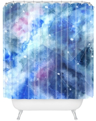 Wonder Forest Connecting Stars Shower Curtain Blue - Deny Designs