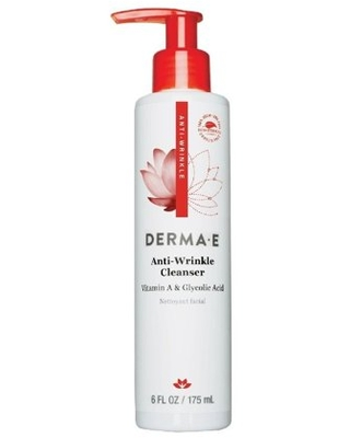 Derma E Anti-Wrinkle Vitamin A Glycolic Cleanser With Papaya, Face Wash for All Skin Types, 6.0 Fl Oz