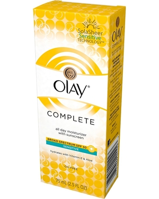 Unscented Olay Complete All Day Moisturizer with Broad Spectrum Spf 30 Sensitive - 2.5fl oz