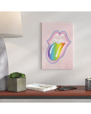 "Brayden Studio 'Rainbow Mouth' Graphic Art Print BI025995 Size: 30"" H x 24"" W x 1.5"" D Format: Canvas"